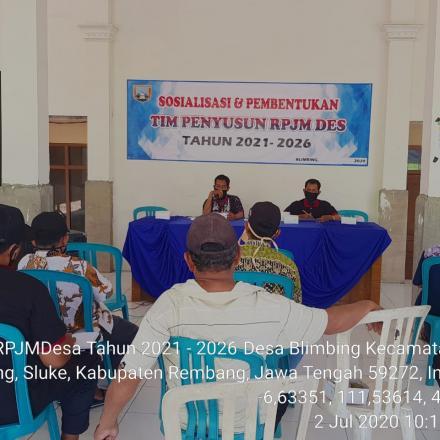 SOSIALISASI DAN PEMBENTUKA TIM PENYUSUN TIM RPJMDes TAHUN 2021-2026